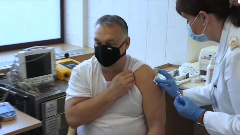 Hungary's PM Viktor Orban has received the Chinese vaccine