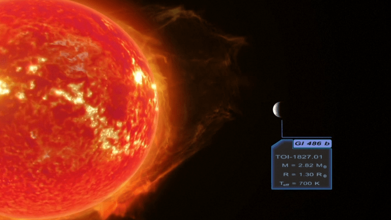 Gliese 486 b is immersed in radiation from its local star. Image: Renderarea / Reuters