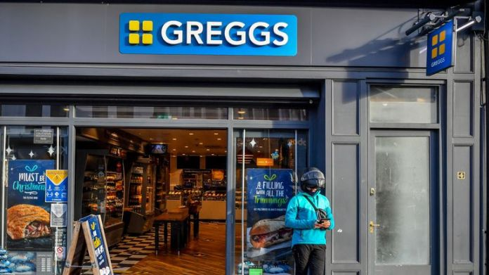Greggs in Cardiff city centre after tier 4 lockdown, after First Minister Mark Drakeford announced the country will immediately enter lockdown ahead of Christmas, following a rapid surge in cases of Covid-19 across Wales 20/12/2020