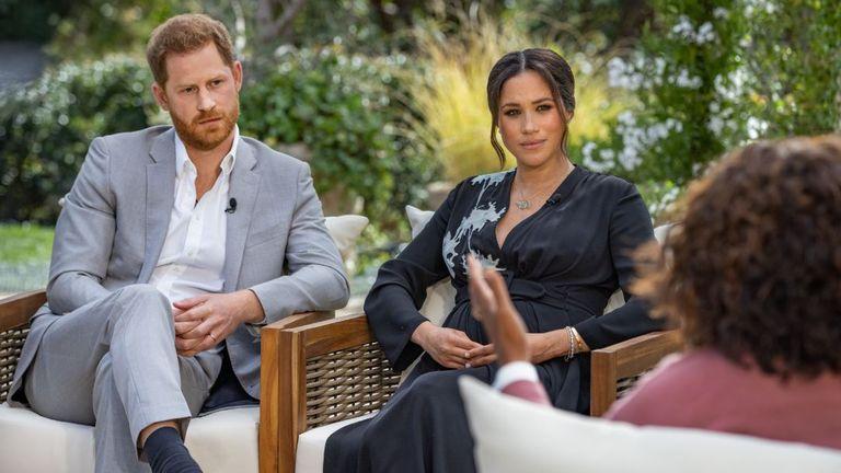 Das Interview von Harry und Meghan mit Oprah Winfrey wird am Sonntag ausgestrahlt. Bild: CBS