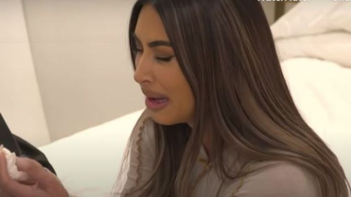Kardashian West is seen crying to her family in the 2 minute-long teaser