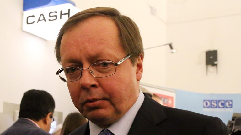 Russian Ambassador Andrei Kelin was summoned to the Foreign Office on Thursday