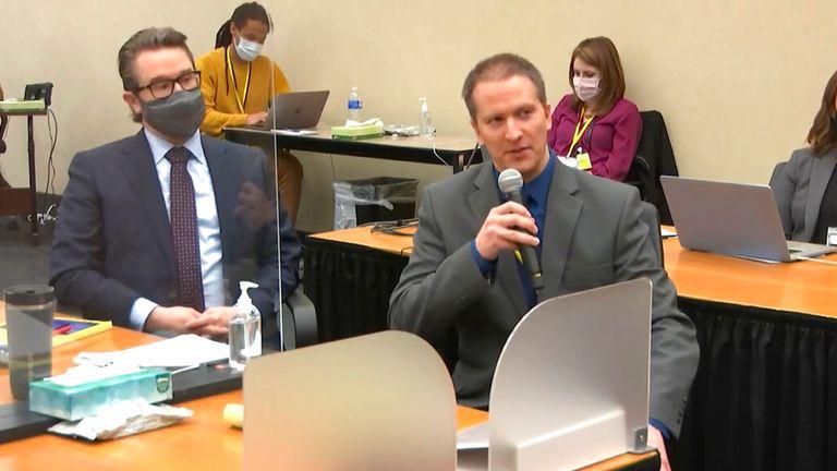 Derek Chauvin invoked his 5th Amendment right in court