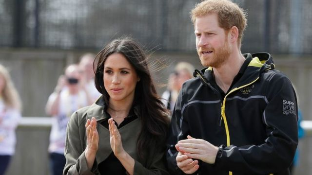 Harry and Meghan watch competitors train ahead of the Invictus games in 2018