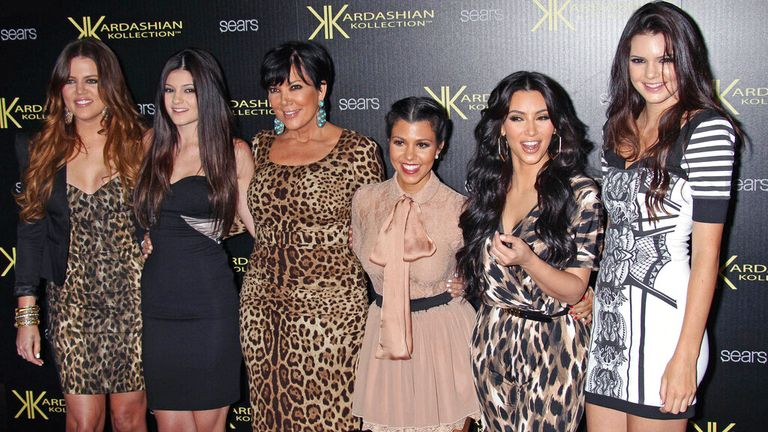 The Kardashian family are pictured in 2011. Pic: AP