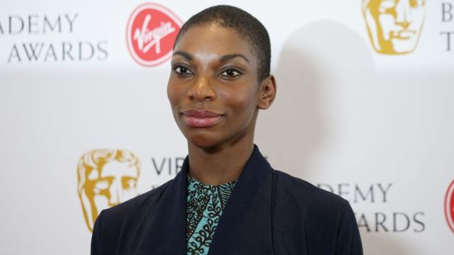 Coel is pictured at the BAFTAs in London