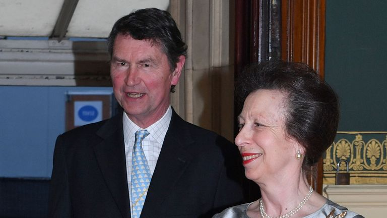 Princess Anne and Vice Admiral Sir Timothy Laurence