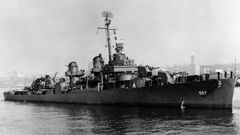 The USS Johnston was sunk during World War II. Image: US Navy