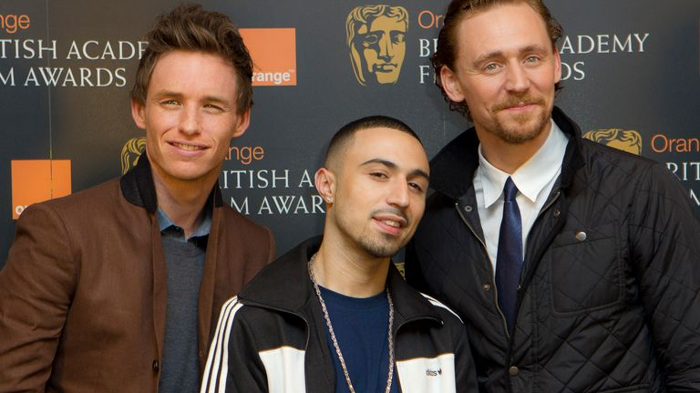 Eddie Redmayne, Adam Deacon and Tom Hiddleston were among BAFTA's rising star nominees in 2012 - Deacon went on to win. Pic: AP