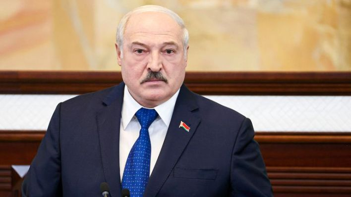 Belarusian President Alexander Lukashenko accused the West of waging a hybrid war against the country. Pic: AP