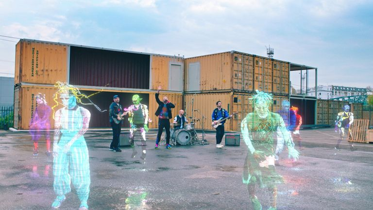 "Members of Coldplay perform ""Higher Power"". Pic: Parlophone/Atlantic/Handout"