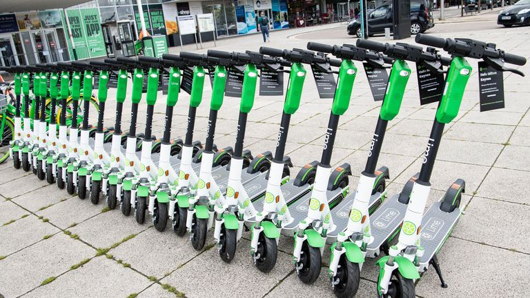 An e-scooter test is taking place in Milton Keynes