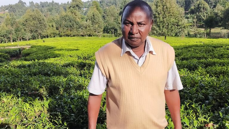 Tea farmer Richard Koskei from Kericho in the western highlands of Kenya says the seasons have changed there