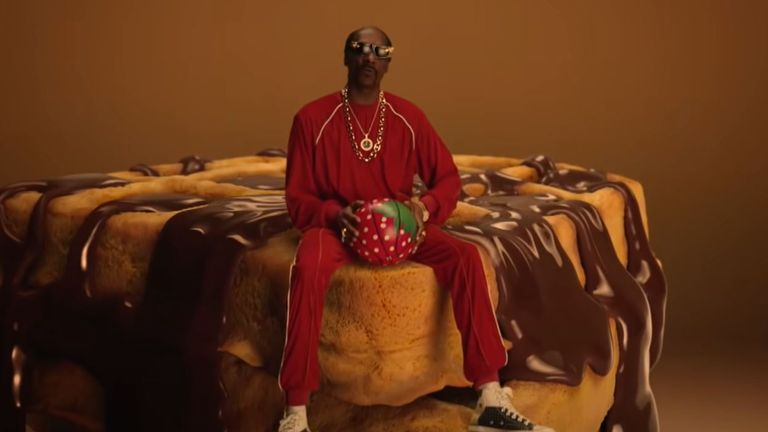 Snoop Dogg in the Just Eat advert. Pic: Just Eat/YouTube