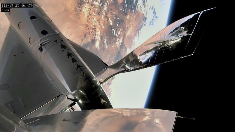 The missile ship Virgin Galactic reached the edge of space