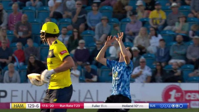 Highlights of the  Vitality Blast clash between Sussex and Hampshire.