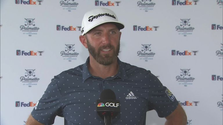 World No 1 Dustin Johnson enjoyed playing in front of his home fans in South Carolina as he opened with a six-under 65 at the Palmetto Championship.