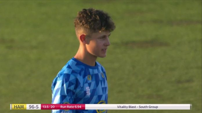 After a shaky start, Sussex youngster Archie Lenham collected a very impressive 3-14 against Hampshire