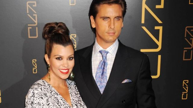 Scott Disick and Kourtney Kardashian at Gallery Nightclub at Planet Hollywood Hotel and Casino. Pic: Star Max/IPx/AP