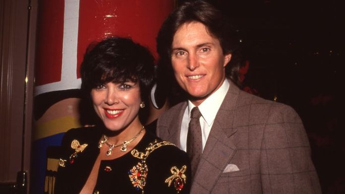Kris Kardashian and Bruce Jenner attend Toys For Tots Benefit on December 12, 1990 at the Beverly Hilton Hotel in Beverly Hills, California. Credit: Ralph Dominguez/MediaPunch /IPX/AP