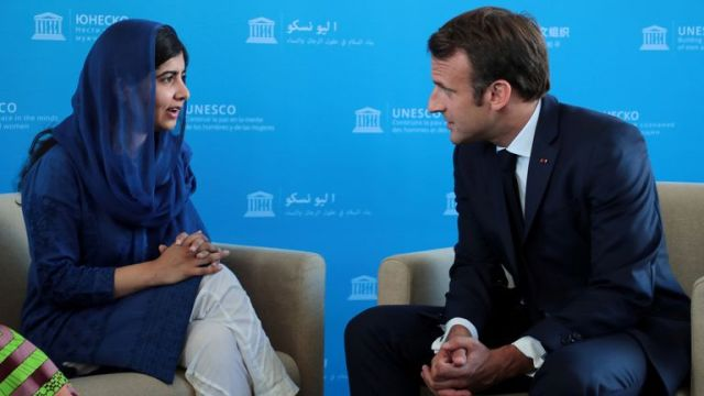 Malala has met with world leaders as part of her work as peace laureate. Pic: Reuters