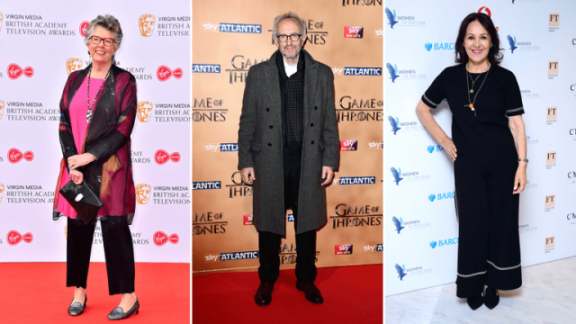 Prue Leith, Jonathan Pryce and Arlene Phillips are among those being given top honours