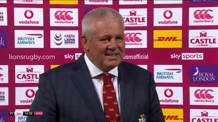 Lions head coach Warren Gatland was pleased to start the tour of South Africa with a 56-14 win over Sigma Lions and believes there is more to come from his side