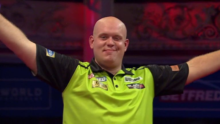 Van Gerwen defeated White with this outrageous 121 checkout on the bullseye
