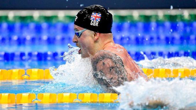 Team GB's Adam Peaty. Pic: AP