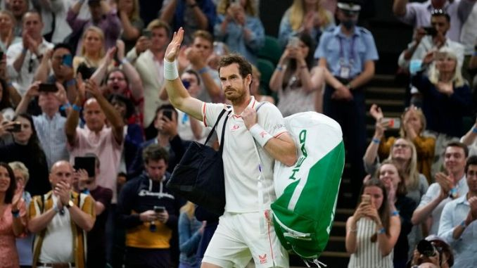 Sir Andy Murray bowed at Wimbledon but will play in Tokyo. Pic: AP