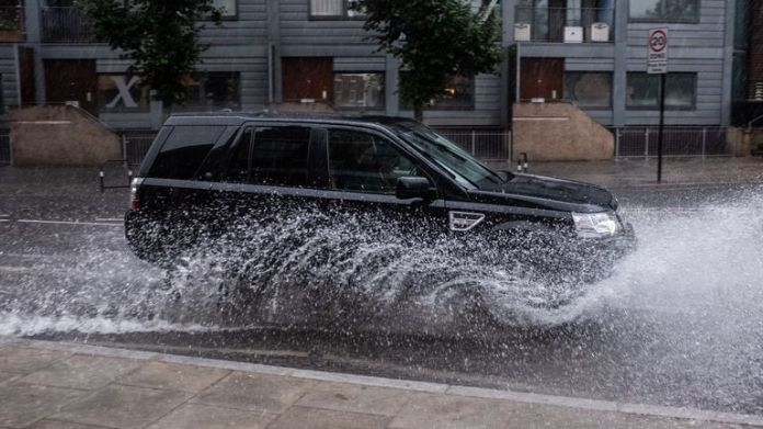 Motorists have been told to drive carefully as torrential downpours hammer the South