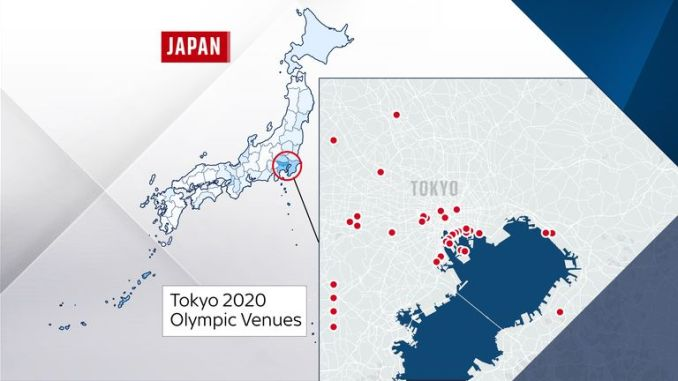 Twenty-five of the 41 Olympic venues are in Tokyo