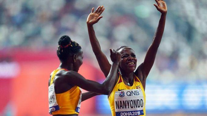 Halimah Nakaayi (left) and Winnie Nanyondo in 2019. Pic: AP
