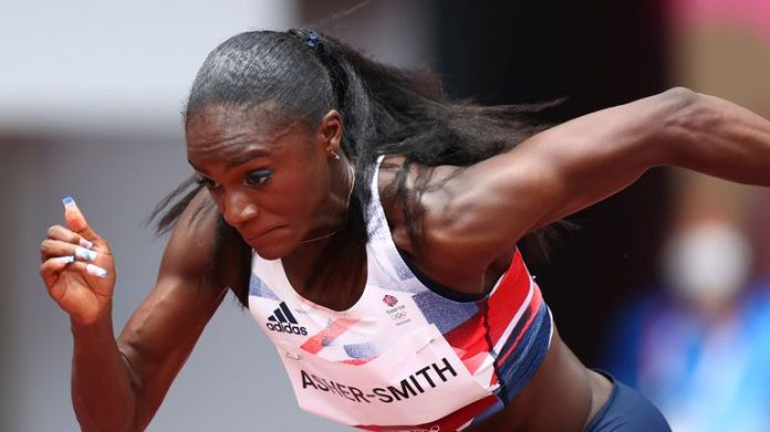 Dina Asher-Smith missed out on the Olympic 100m final as team-mate Daryll Neita qualified for the showpiece event (Credit: BBC Sport)