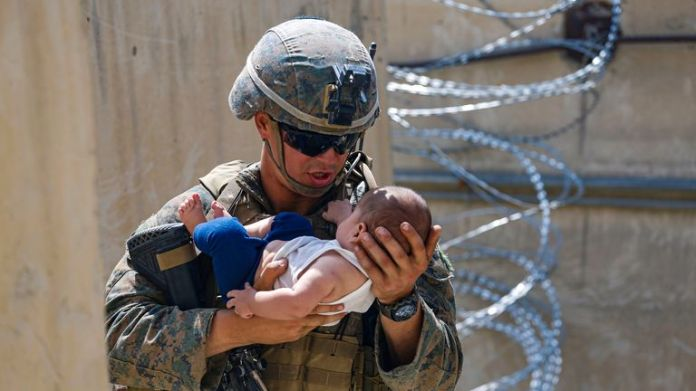 US and British forces have been supporting the evacuation effort in Afghanistan, which have sparked chaotic scenes as people attempt to flee