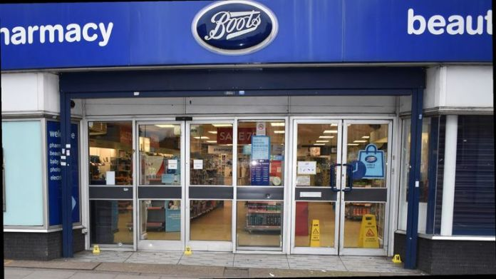 CCTV from a nearby Boots captured the incident. Pic: Met Police