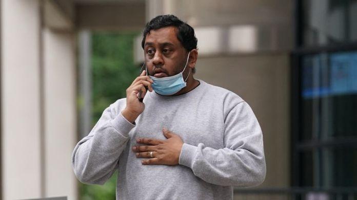 Vinothkumar Ratnam, 37, leaves Kingston Crown Court, south west London.