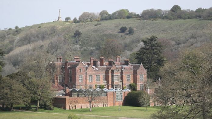 The house is nestled in the Buckinghamshire countryside