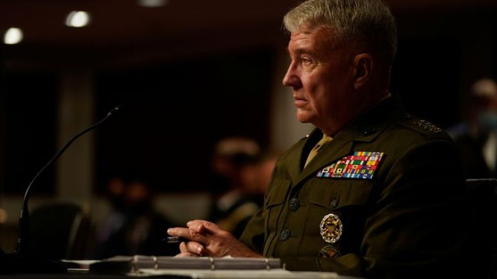 General McKenzie said that he recommended America maintain 2,500 troops in Afghanistan