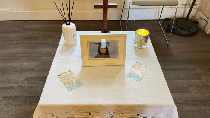 A book of condolences has been set up in memory of Sabina Nessa