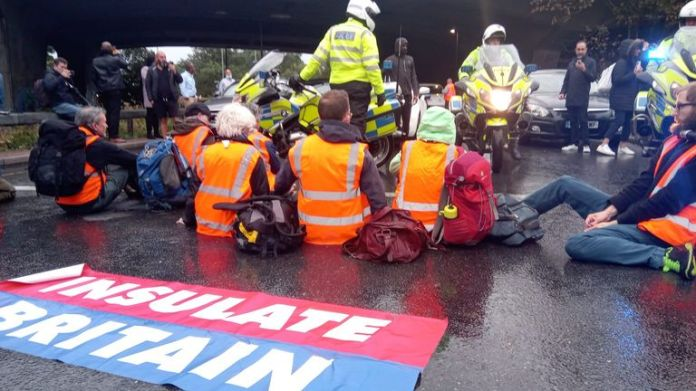 People arrested during previous protests are among those blocking motorways today