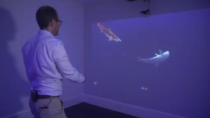 """The Pixar-like """"neuro-animation"""" uses motion-sensitive cameras to track the movements made by a patient's arm"""