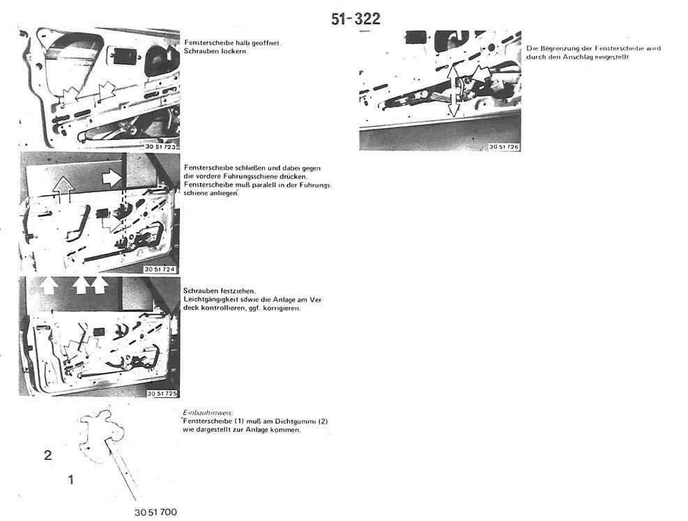 Youan: Bmw E30 Cabrio Hintere Scheiben Einstellen