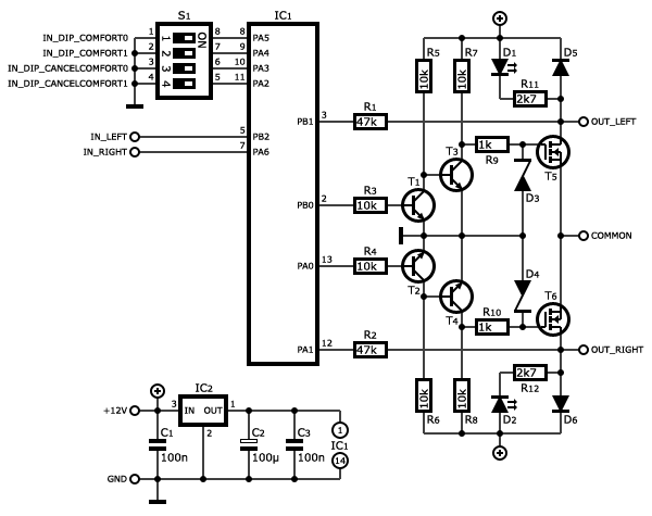 circuit diagram of a switch circuit