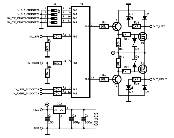 Turn Signal Circuit Diagram Turn Signal Relay Circuit