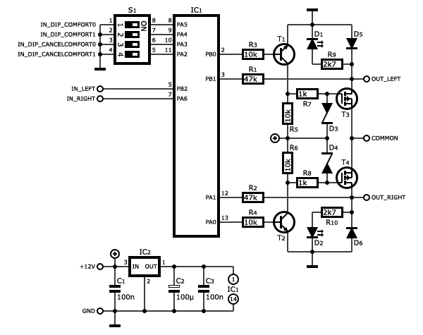 car wiring diagram program 2000 jeep grand cherokee infinity stereo one-touch turn signal module (p version) - e31wiki