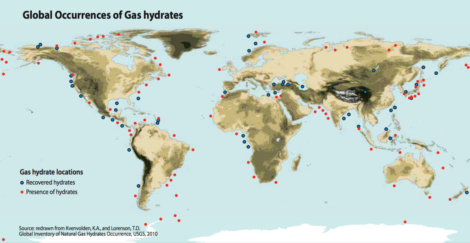 Methane Hydrates In The Ocean Are A Significant Source Of Methane