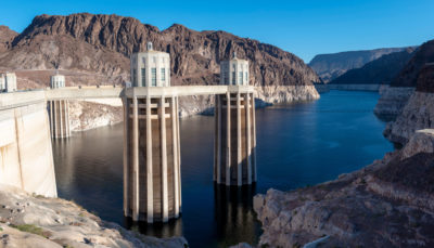 Water levels in Lake Mead at the Hoover Dam in Nevada have reached a low point. If the levels continue to drop, Phoenix and other places south of the dam would not get Colorado River water.