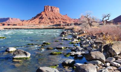 The Colorado flows through Castle Valley, near Moab, Utah.