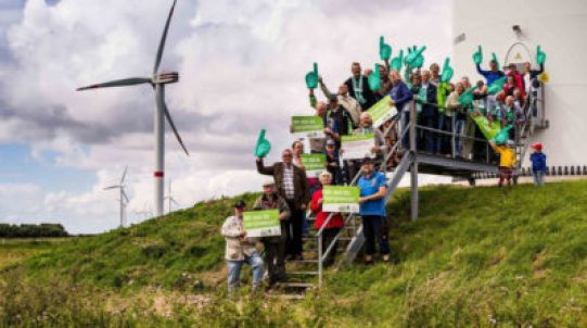 The community-owned Ellhöft wind farm in Nordfriesland, Germany produces enough energy to power 18,750 households.